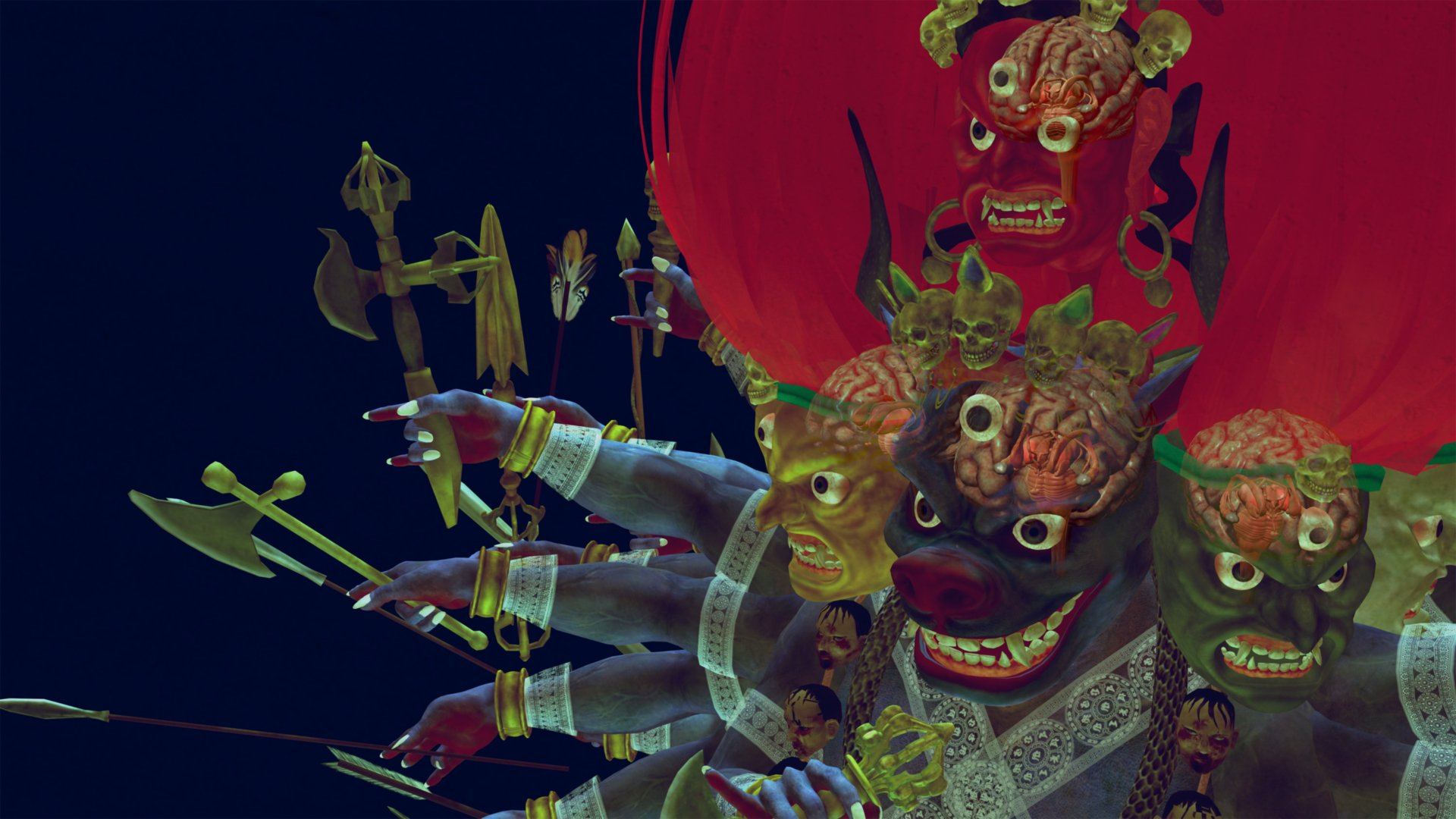 Lu Yang, Wrathful King Kong Core, 2011, project poster for video, 14'47''