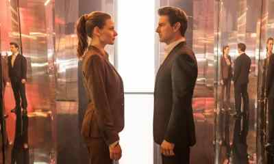Left to right: Rebecca Ferguson as Ilsa Faust and Tom Cruise as Ethan Hunt in MISSION: IMPOSSIBLE - FALLOUT - Mission Impossible Fallout Review Spoiler Free