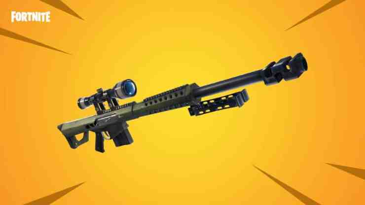 New weapon - The Heavy Sniper Rifle for Battle Royale - Fortnite Patch 5.21