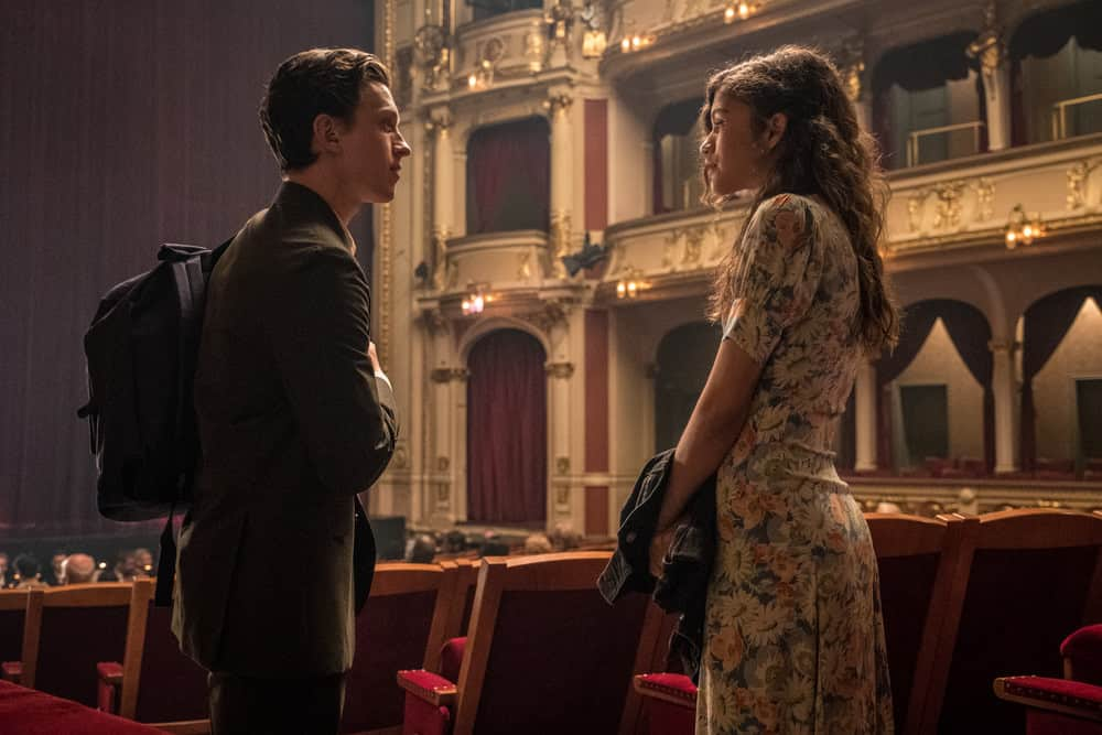 Peter Parker and MJ in Spider-Man: Far From Home