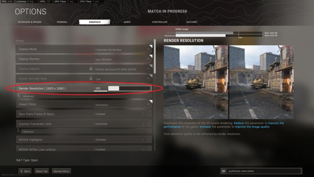 Step 2: How to fix blurry graphics in Warzone