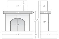 [outdoor fireplace dimensions]