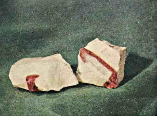 Cristalli di rubino in roccia