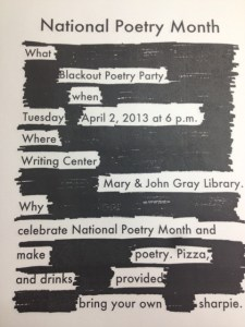 Figure 1. Blackout Poetry from Creative Commons