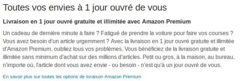 avantages amazon premium