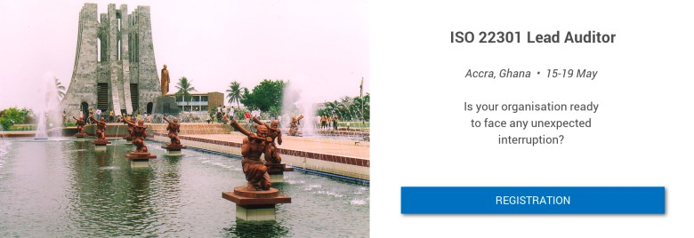 ISO 22301 LA in Accra on 15-19 May Flyer