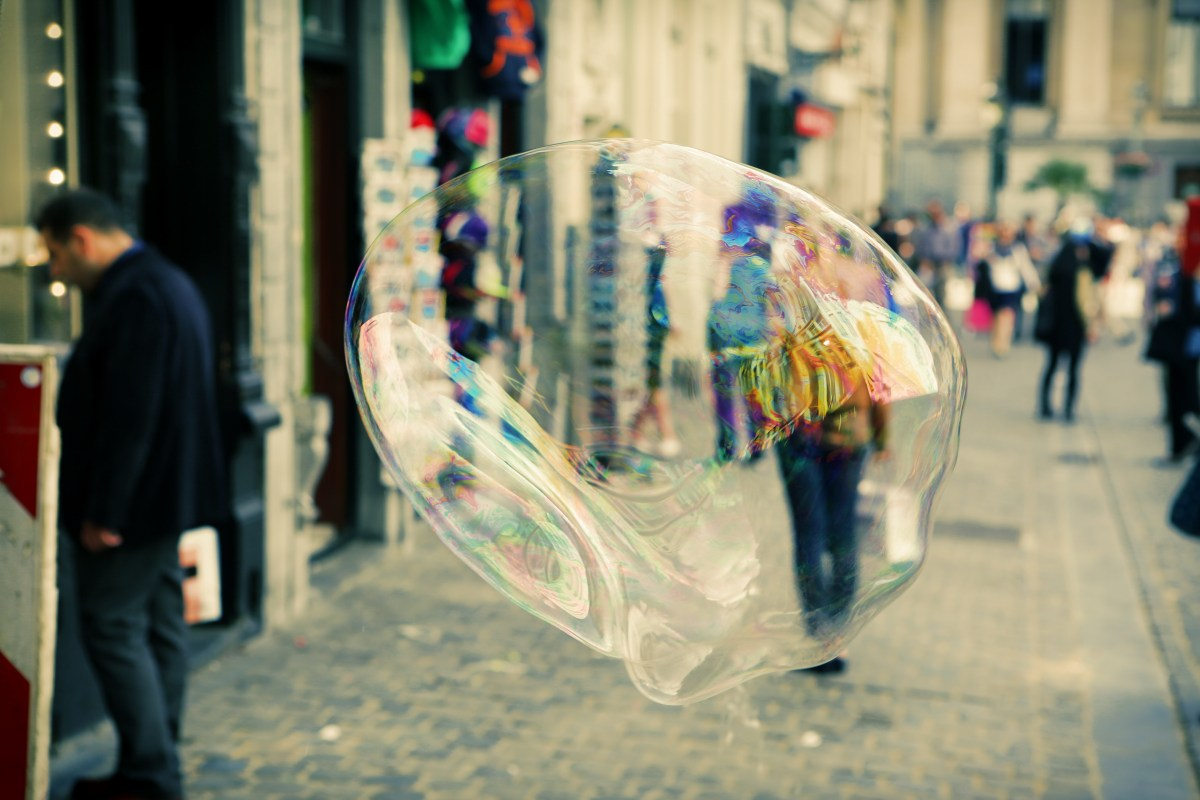 Don't let someone burst your bubble