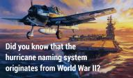 Hurricane naming system WW2