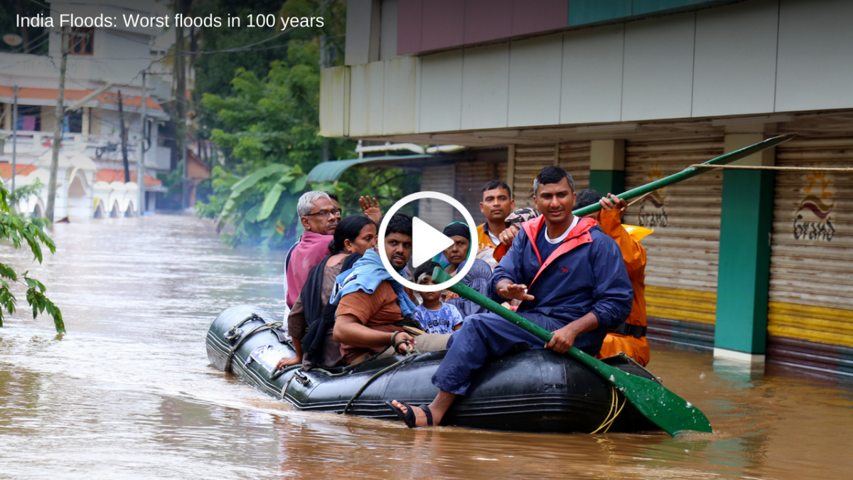 India floods: Worst floods in 100 years