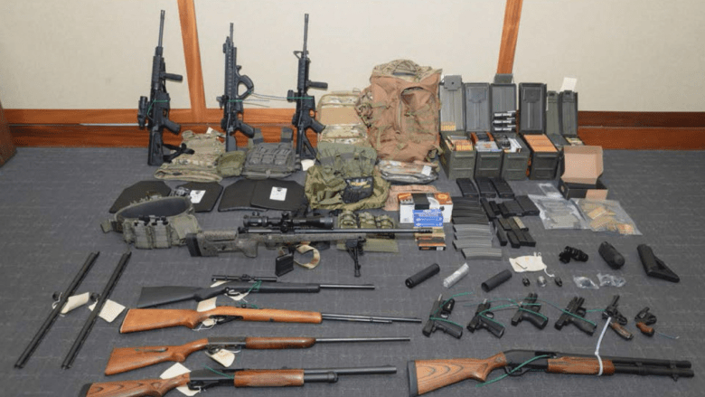 Federal investigators allege Christopher P. Hasson had a cache of guns stockpiled to launch a terrorist attack targeting liberal politicians and journalists.