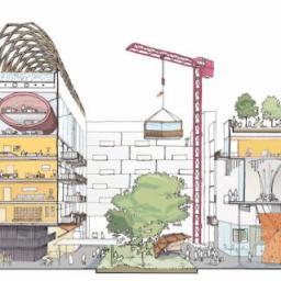 Concept art for the Quayside neighbourhood