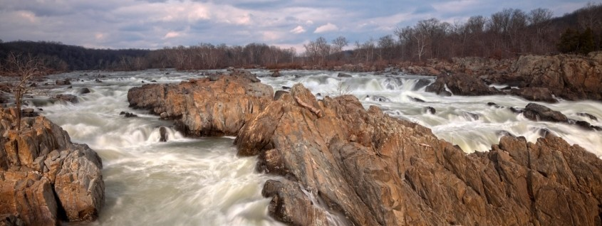 River rapids with rocks