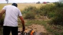 Argentina = Asado (grill) + No till soybean - Argentine = Asado (barbecue) + Semis direct de soja. Cordoba, Argentina