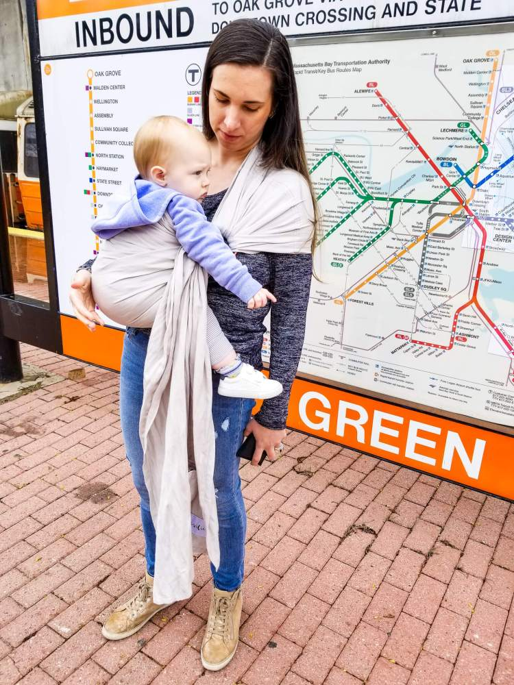 Resilient Baby Products Bamboo Linen Ring Sling baby carrier