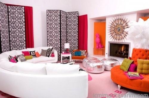 Renkli Oturma Odası Tasarımı