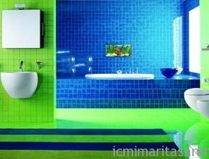 Parlak Ve Renkli Banyo Tasarım Fikirleri (15)