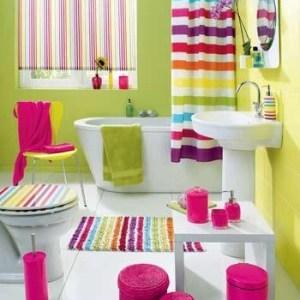 Parlak Ve Renkli Banyo Tasarım Fikirleri (18)