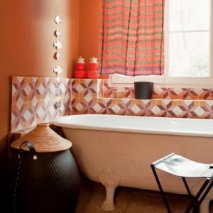 Parlak Ve Renkli Banyo Tasarım Fikirleri (33)