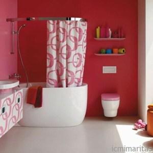 Parlak Ve Renkli Banyo Tasarım Fikirleri (38)