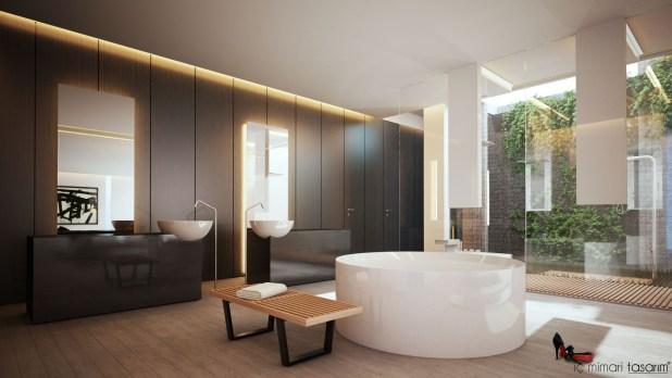 Banyoları Doğayla Buluşturan Tasarımlar (13)