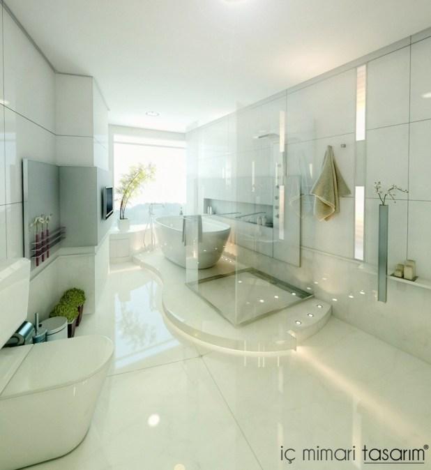 Banyoları Doğayla Buluşturan Tasarımlar (18)