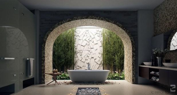 Banyoları Doğayla Buluşturan Tasarımlar (5)