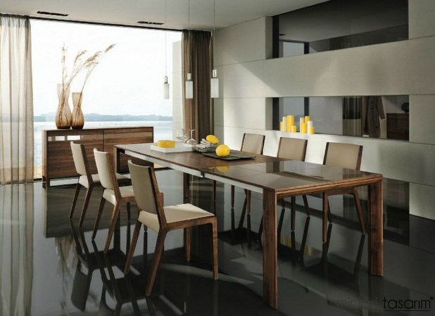 Modern-wooden-dining-suite
