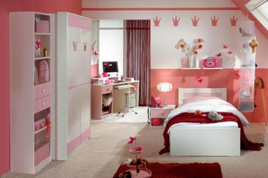 Mükemmel bir T Şekli Kız Odası için İpuçları (12)