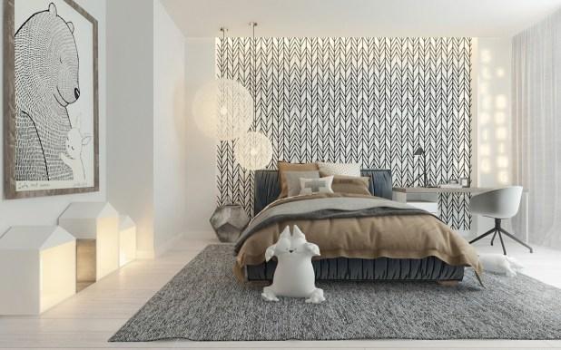 Sofistike Temalar ile Çocuk Yatak Odası (10)