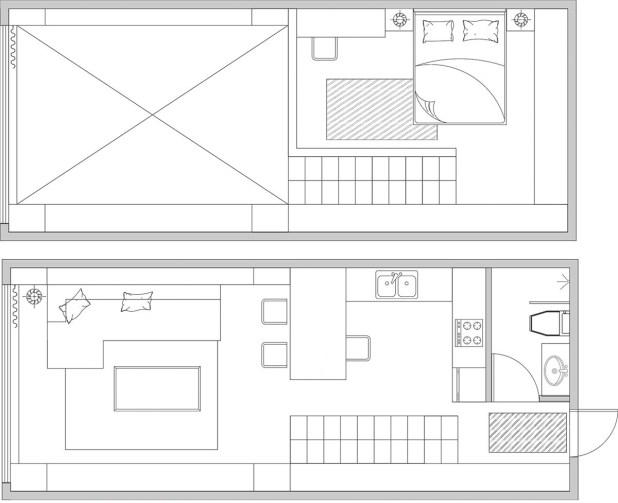 Yüksek Tavanlı Küçük Evlerde Ferahlık Veren İç Dekorasyon (21)