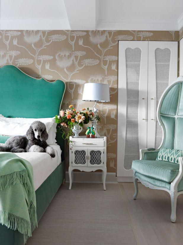 yeşil-romantik-yatak-odasi