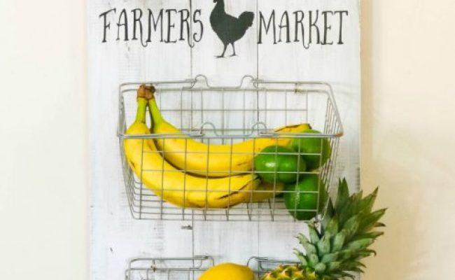 Diy Farmhouse Produce Rack Resin Crafts