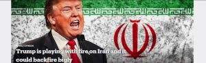 Trump wants war with Iran for political gain