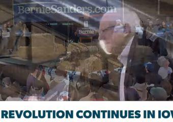Bernie campaigns before presidential candidates debate Iowa