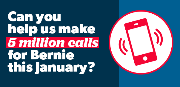 Please help us make 5 million calls in January