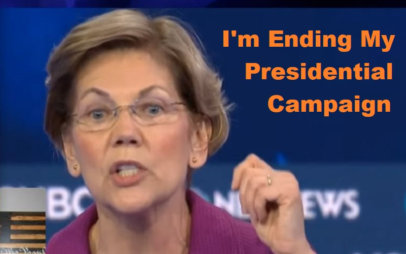 Elizabeth Warren has suspended her election campaign. Vows to continue fight against Trump.