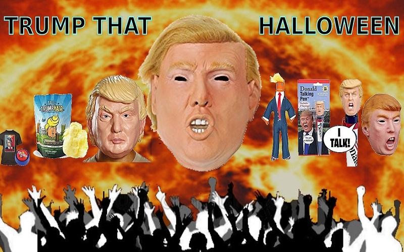 Mock Donald Trump in Costume Halloween 2020