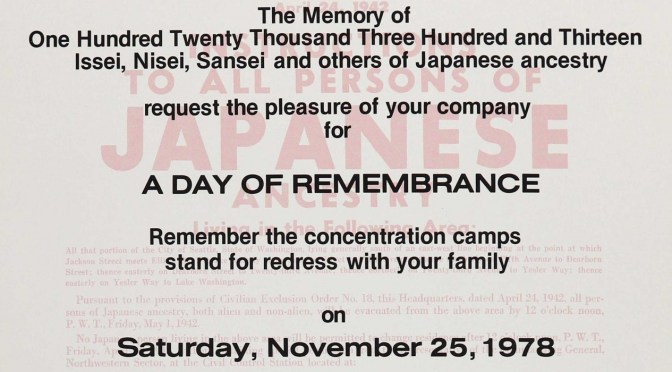 The first Day of Remembrance, Thanksgiving Weekend 1978