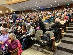 audience at Kane Hall, University of Washington