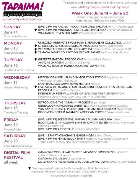 Week 1 program
