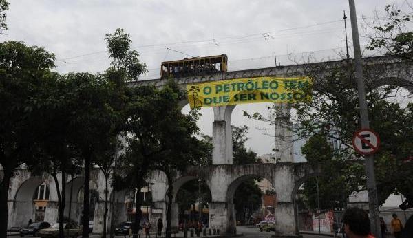 Campanha no Rio de Janeiro.