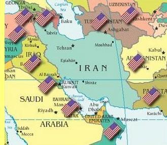 O cerco ao Irão.