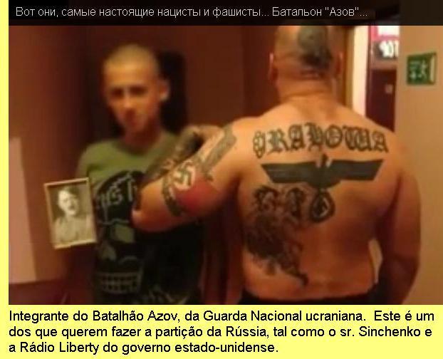 Combatente do Batalhão Azov, da Guarda Nacional da Ucrânia.