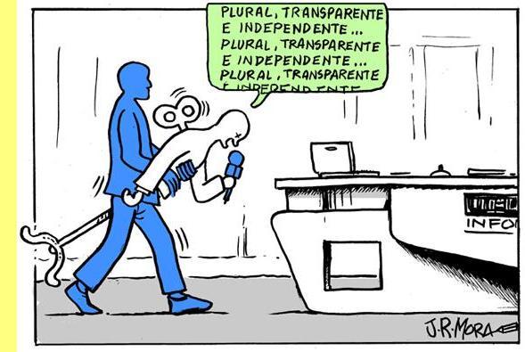 Cartoon de J.R. Mora.