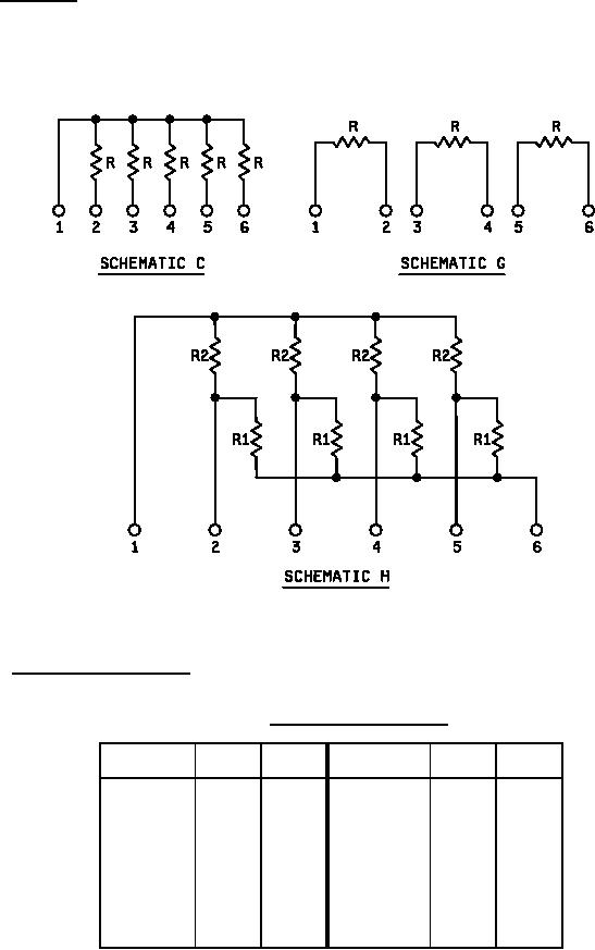 MIL-PRF-83401-21 Resistor Network, Fixed, Film, Style