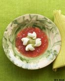 Gelée de tomate, mozza et pistou