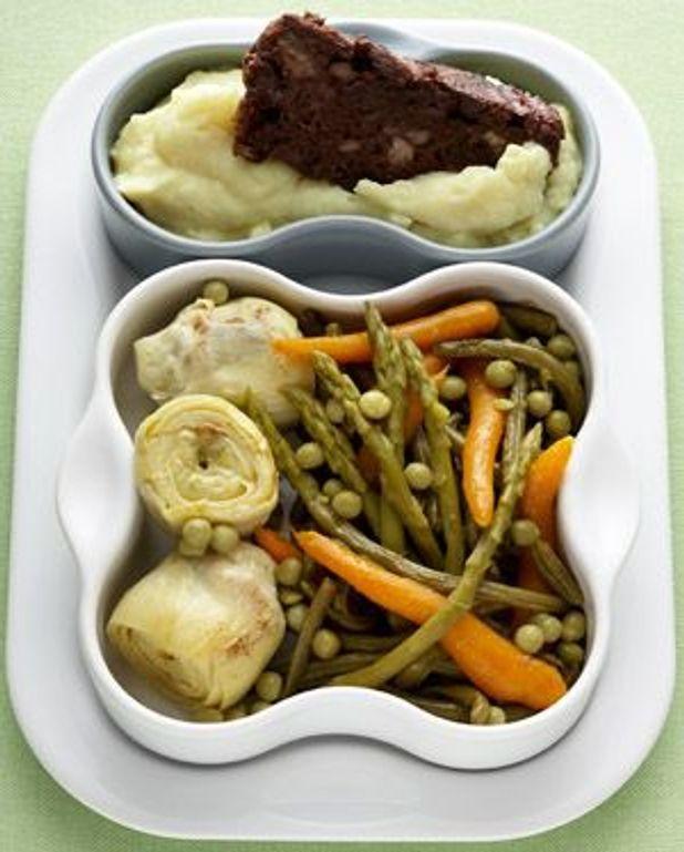Legumes Pour Accompagner Le Boudin : legumes, accompagner, boudin, Boudin-purée,, Légumes, Dorés, Personnes, Recettes, Table