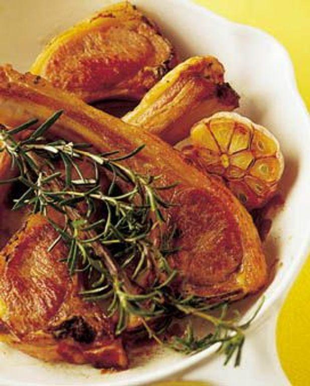 Recette Cotelette D Agneau Au Four : recette, cotelette, agneau, Côtes, D'agneau, Romarin, Personnes, Recettes, Table