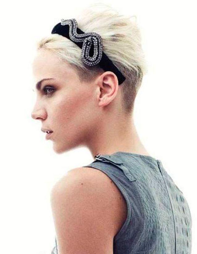 Coupe Cheveux Gris Court Femme 2020 - Modele Tresse