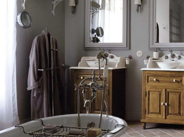 charme du retro dans la salle de bains
